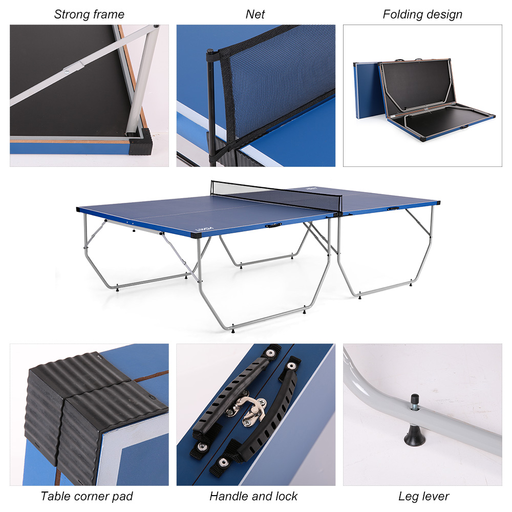 Lixada Folding Table Tennis Table Ping Pong Table